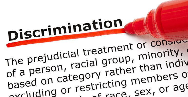 definition of discrimination with word discrimination underlined with red marker