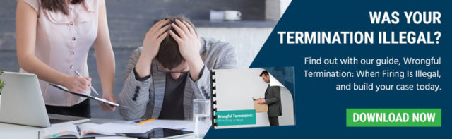 wrongful termination when your termination is illegal man being fired